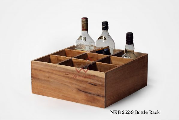 Indonesian reclaimed wood furniture | Wooden Bottle Rack