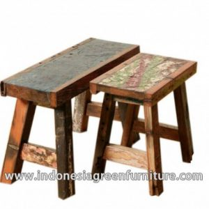 Adang stool set Indonesia Reclaimed Boat