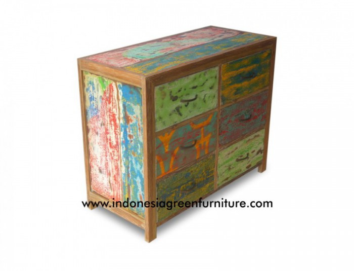 Balikpapan 6 Drawer Indonesia Reclaimed Boat