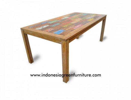 Bone Dining Table Indonesia Reclaimed Boat