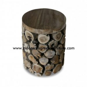 Hono Stool Round With Wooden Top