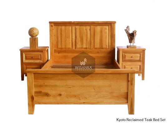 Reclaimed Teak Bed Furniture | Kyoto Reclaimed Teak Bed Set Jepara Wooden Furniture