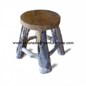 Mogo Round Stool With Wooden Top