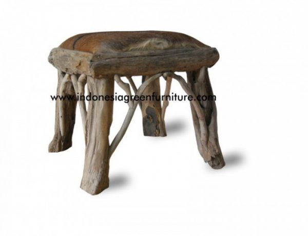 Mogo Stool With Goat Leather