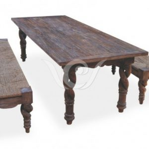 Nebula Dining Set Reclaimed Pine