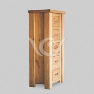 Papua Cabinet 5 Drawers Reclaimed Pine