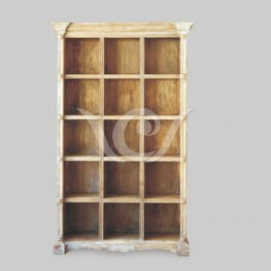 Roma Book Rack reclaimed pine