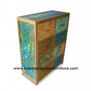 Siburu 8 Drawer Indonesia Reclaimed Boat