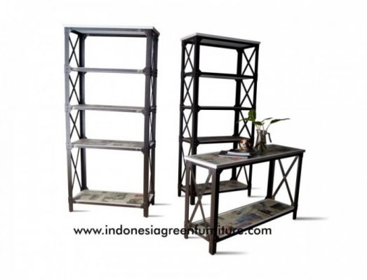 Tablo Industrial Console Table 1 Shelf Indonesia Industrial Furniture