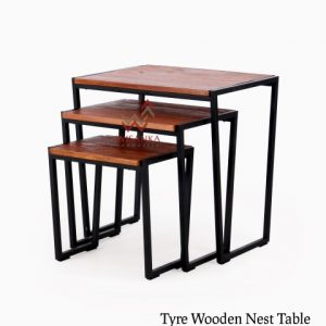 Tyre Wooden Nest Table