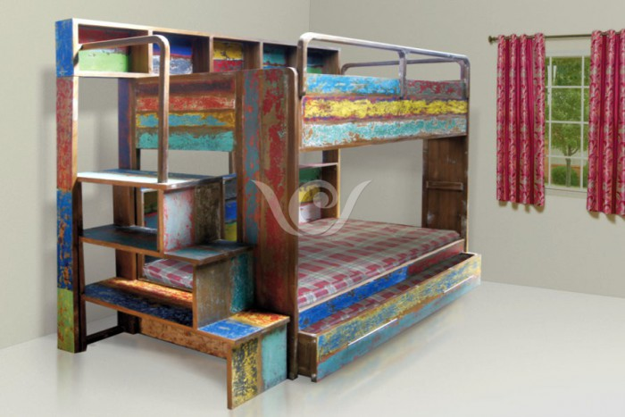 chielo bunk bed reclaimed wood furniture