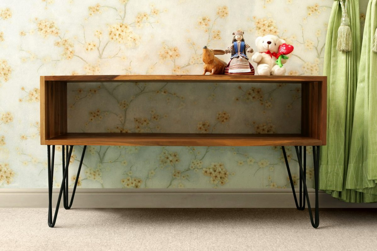 Console Table Reclaimed Wood and Vintage Steel